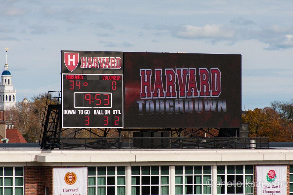Harvard Touchdown